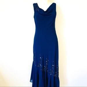 XSCAPE by Joanna Chen Formal Navy blue dress